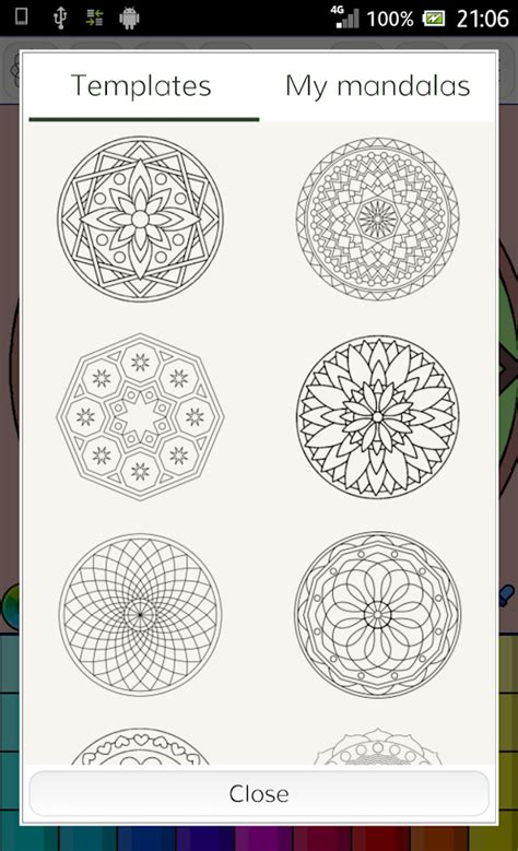 Mandalas Coloring Pages 200 Free Templates Android