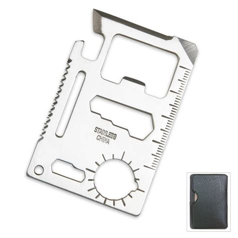 credit card tool 11 function credit card size survival pocket tool