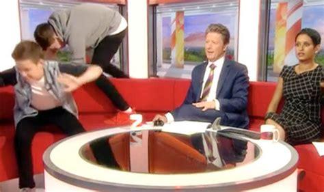 bbc breakfast sofa bbc breakfast hosts charlie stayt and naga munchetty