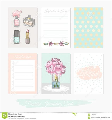 cute printable postcards printable cute set of filler cards with flowers makeup