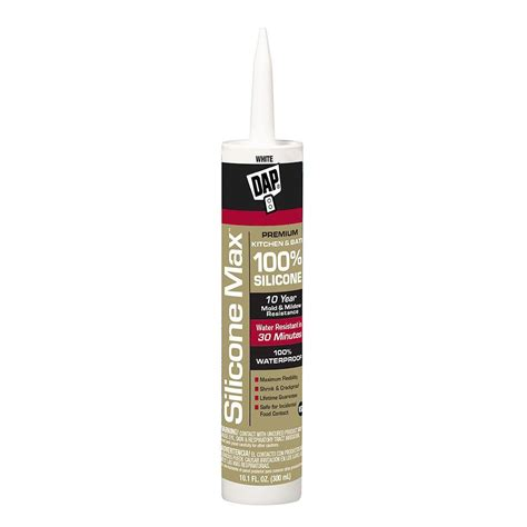 bathroom caulk reviews dap silicone max 10 1 oz white 100 premium kitchen and