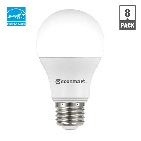 ecosmart 60w equivalent white a19 basic non dimmable