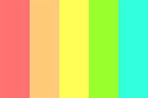 bright color combinations bright rainbow colors color palette
