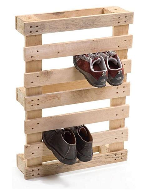 pallet shoe storage diy wooden pallet shoe rack plan 99 pallets