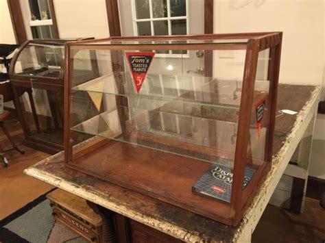 vintage glass showcasedisplay  toms toasted peanuts