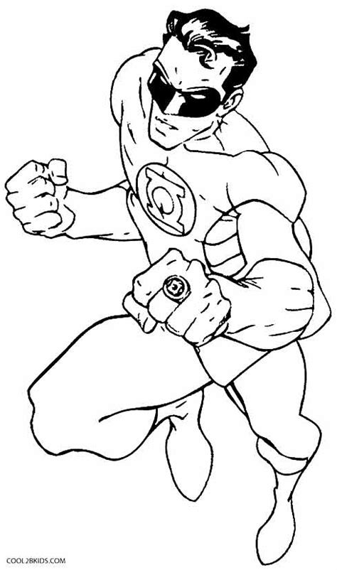 Free Coloring Pages Of Corps Green Lantern Color Chkids Green Lanter