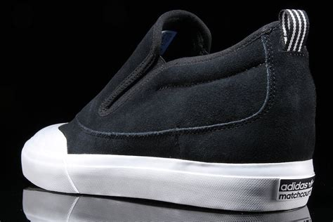 Adidas Slip On Suede Blue adidas matchcourt mid slip on black suede now available