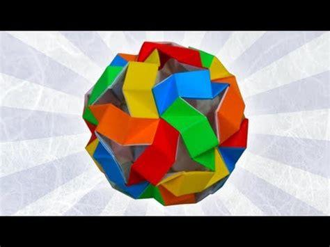 Hull Origami - origami compound of 5 octahedra meenakshi mukerji