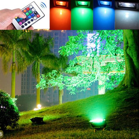 Color Changing Landscape Lighting 10w Outdoor Garden Light Waterproof Rgb Color Changing Flashlight 12 Volt Outdoor Landscape