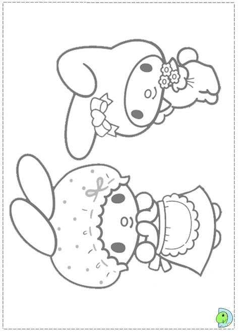 free coloring pages of my melody and kuromi