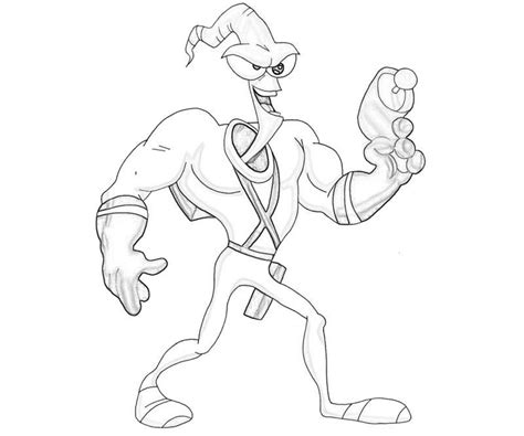 another earthworm jim coloring pages coloring page of
