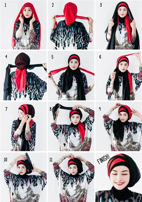 tutorial turban segitiga hijabholicanism two layered hijab tutorial hijab