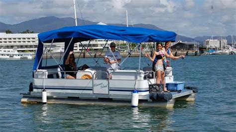 party boat hire wellington pontoon boat hire full day for up to 8 people cairns