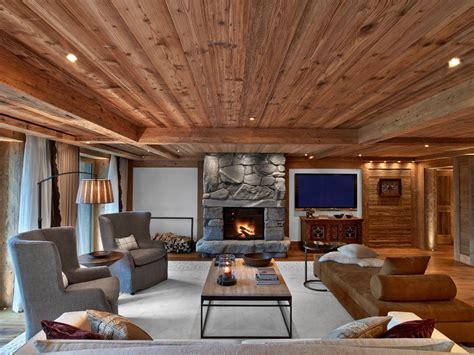 sleek and comfortable modern lodge interior the beauty