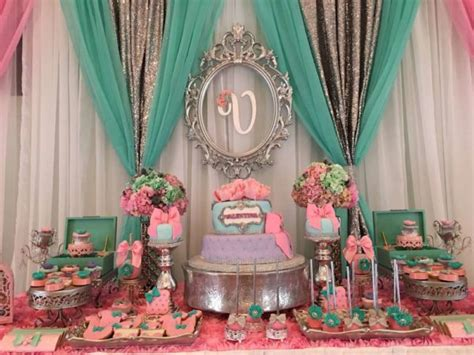Pink And Purple Baby Shower Theme by Teal And Pink Modern Chic Baby Shower Baby Shower Ideas