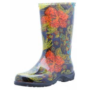 sloggers s print and garden boots black midsummer
