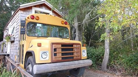 tiny house bus school bus tiny house couple transforms a big yellow school bus into a seriously cozy