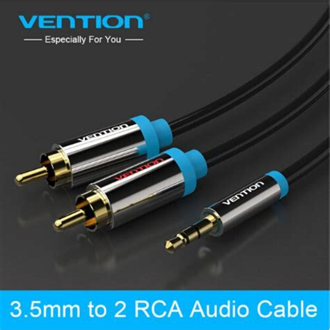 R06 2m Blue Vention Kabel Aux Audio 2 X Rca To black 2 rca aux cables 3 5mm to audio cable 3 5mm rca stereo digital audio cables