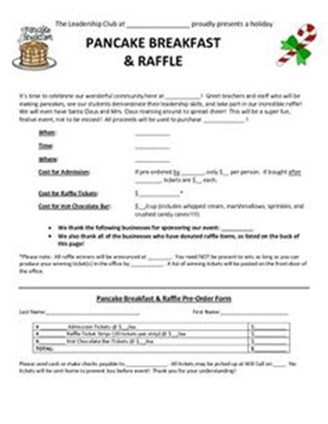 pancake breakfast ticket template 1000 images about fundraising on spaghetti
