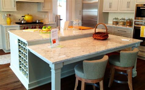 kitchen island with glass table attached wow
