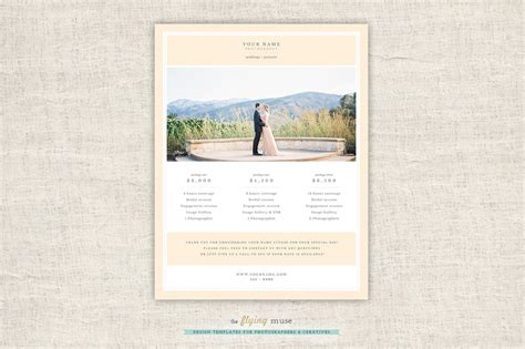 free photography pricing guide template modern photography price list template deals infoparrot
