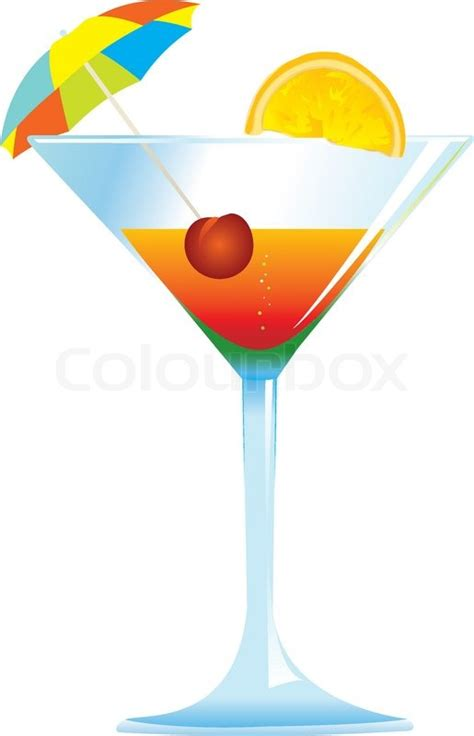 umbrella drink svg dressed cocktail with umbrella cherry and orange slice