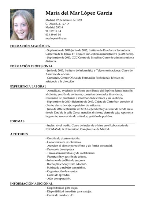Modelo Curriculum Vitae Higienista Dental modelos de curr 237 culum vitae para encontrar trabajo