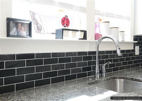 Black Glass Backsplash Black Slate Backsplash Tile New Caledonia Granite