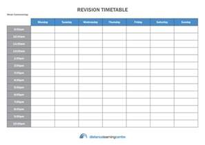 create timetable the perfect revision timetable distance learning centre