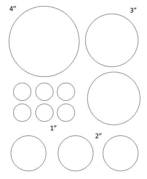 Lenna 3in 1 free printable circle templates large and small stencils