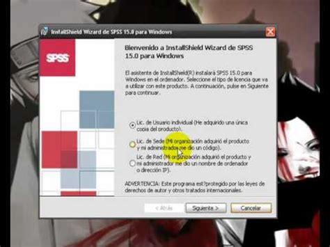tutorial spss evelio hernandez como descargar e instalar spss 15 0 gratis viyoutube