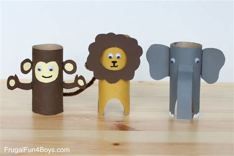 How To Make A Monkey Out Of Paper - paper roll animals