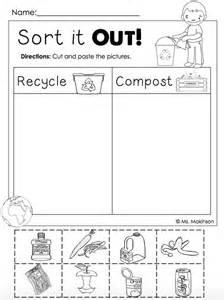 free earth day printables recycling and compost cut