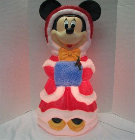 mickey minnie with snowman outdoor decoration santa s best disney minnie mouse light up mold outdoor yard decor m m mickey
