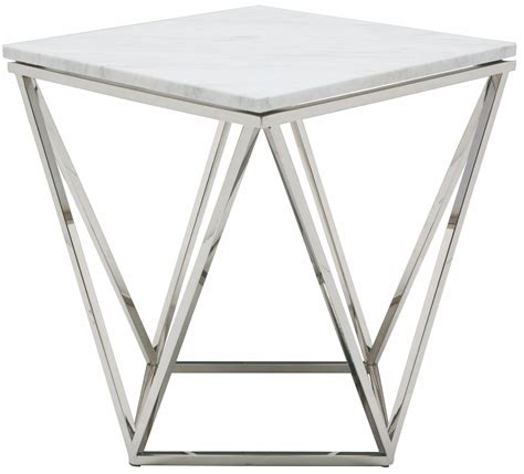 white and silver side table white and silver metal side table from nuevo