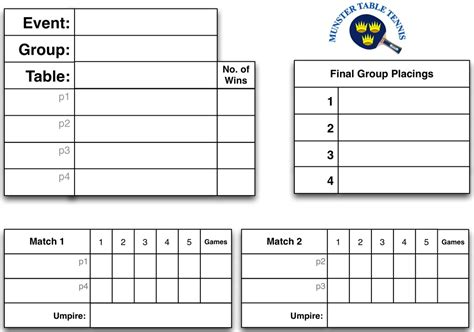 table tennis tournament template table tennis tournament format www napma net