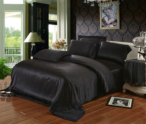 black bed sets black beige color 19 mm mulberry silk bedding set 100