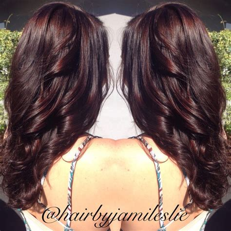 dark brown hair with mahogany highlights 25 best ideas about mahogany hair colors on pinterest