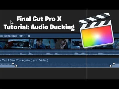 final cut pro youtube video audio ducking in final cut pro youtube