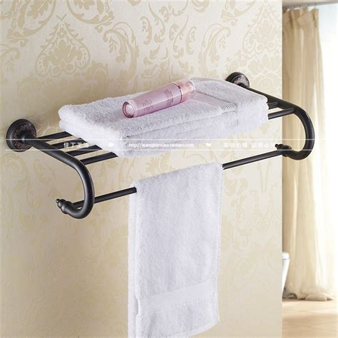 black towel racks bathroom copper vintage black bath towel rack the bathroom towel