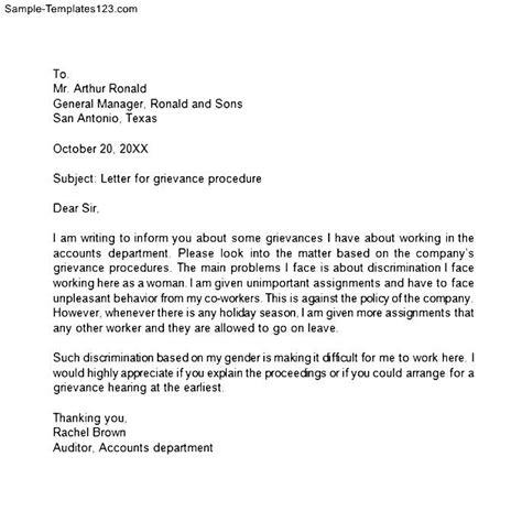 Raise Grievance Letter Template Help Writing Grievance Letter Defenddissertation X Fc2