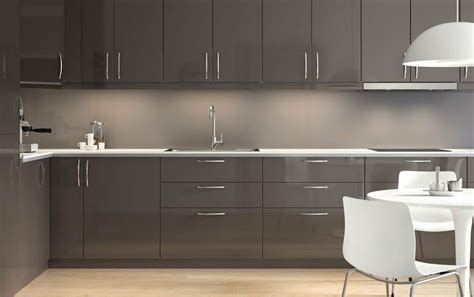 ikea ringhult gloss grey kitchen cabinet doors  drawer