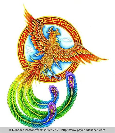 fenghuang chinese phoenix by psychedeliczen on deviantart