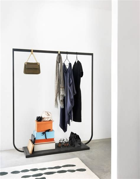 Closet Coat Rack by Tati Coat Rack Anthracite Frame Limestone Base