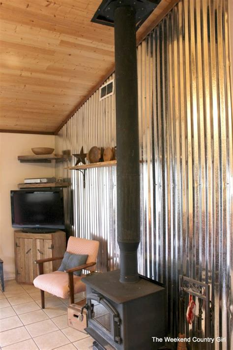 metal accent wall remodelaholic diy corrugated tin wall tutorial