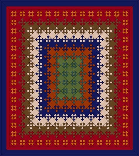 Blooming Nine Patch Quilt Pattern by Blooming Nine Patch Quilt Pattern Autumn