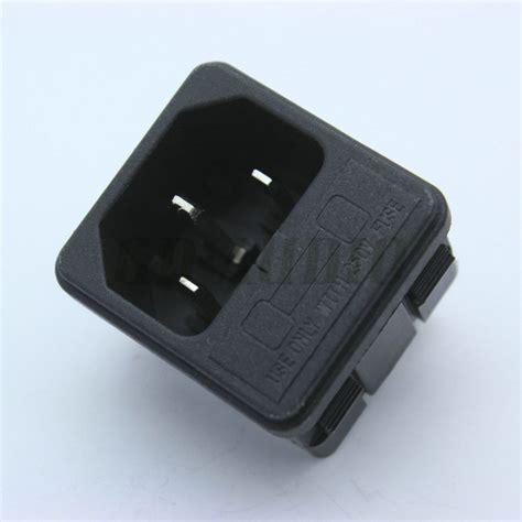 socket fuse holder iec320 c14 power cord inlet socket with fuse holder 250v