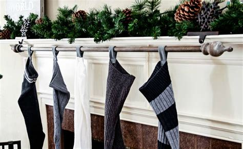 curtain pole hangers 12 best diy stocking hangers for your socks