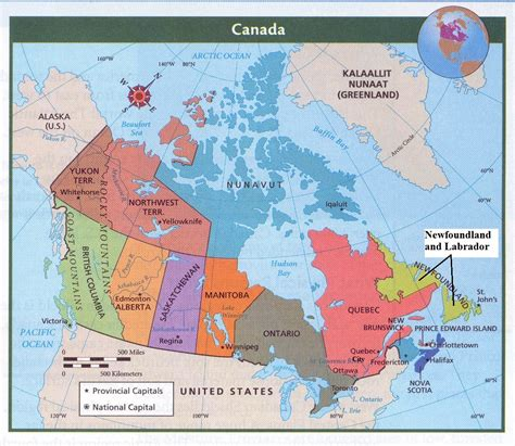 canadian map of provinces and capitals miss crachi s website maps