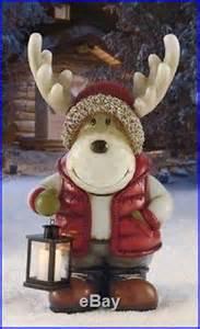 Christmas Moose Home Decor moose led lantern light christmas holiday indoor outdoor